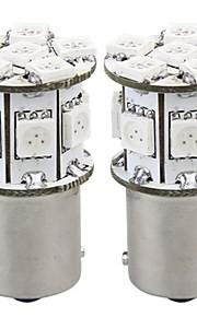 2 x lyspære lampe 1 156 bau15s 12v 13 5050 SMD LED amber