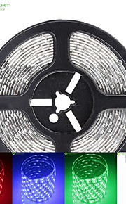 5m 75W 300x5050 SMD LED DC12V IP68 vanntett stripe lys + 24key fjernkontroll rgb