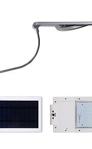super lyse 3.7w 24 ledet solenergi lampe gate lys lyktestolper 4000mAh batteri
