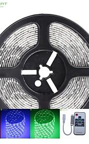 5m 75W 300x5050 SMD LED DC12V IP68 vanntett stripe lys + 10key fjernkontroll rgb + 12v 2a makt AC100-240V