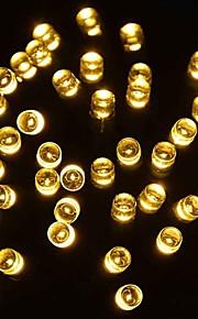 konge ro solar 39.37ft 100led 8 modus julen innredning blinkende lys utendørs vanntett string lys