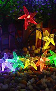 konge ro solar 21.32ft 30led søte sjøstjerner form julebord dekorasjon lys utendørs vanntett string lys