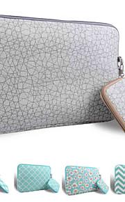 loelmall ® tragen Laptop-Hülle Canvas-Gewebe von 13 bis 13,3 Zoll (graue Haut-Muster)