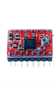 3D Printer A4988 Stepper Motor Driver Reprap 2  Pin Soldered Red Plate