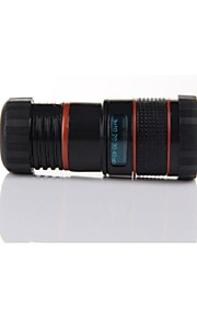 HD camera lense for iPhone5/5S 8x Long focal distance Black
