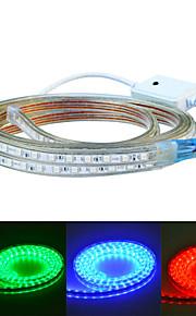 Jiawen 400cm vanntett 24W 240-5050smd 8-modusen RGB LED fleksibel lys stripe (AC110 ~ 220V)