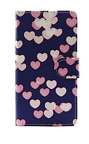 애플 아이폰 7 7 플러스 아이폰 6s 6 플러스 케이스 아이폰 5s 5c 5에 대 한 심장 패턴 pu 가죽 케이스 커버
