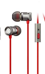GGMM usignolo custodia in metallo leggero bassi profondi auricolare in-ear con microfono (bronzo)