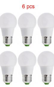 6st kakanuo LED-lampa ljus e26 / e27 3W 15xsmd2835 270lm varmvit / kall vit / naturvit a50 globe lökar ac85-265v
