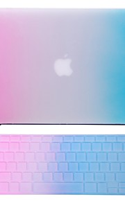 """2 in 1 Rainbow Colorful Rubberized  Case +Keyboard Cover for MacBook Air 11"""" Pro 13""""/15"""""""