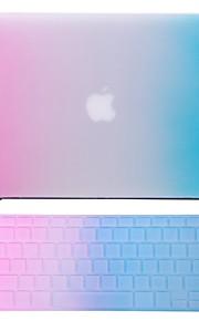 """2 в 1 радуга красочные прорезиненный корпус + крышка клавиатуры для MacBook Air 11 """"про 13"""" / 15 """""""