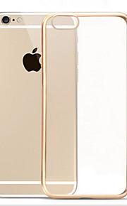 gennemsigtig elektroplet tpu med bagsiden for iphone6 plus / 6s plus (assorterede farver)