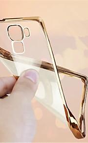 Fundas luksus ultra tynde plating krystal gennemsigtig klar blød TPU telefon sagen tilbage dække til Huawei mate 8
