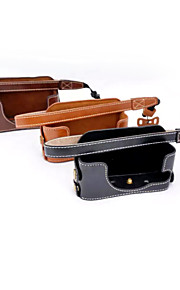 Dengpin PU Leather Half Camera Case Bag Cover Base for Sony DSC-RX1R RX1 (Assorted Colors)