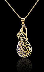 18k ægte gyldne forgyldt allah muslim islamisk vedhæng