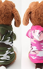 Dog Hoodies - XS / S / M / L - Spring/Fall - Green / Pink - Waterproof / Fashion - Cotton