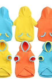 Pulls à capuche - Chiens - Printemps/Automne - Etanche / Mode - Bleu / Jaune / Orange - en Coton - XS / S / M / L / XL