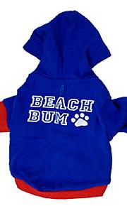 Hunde - Winter - Baumwolle - Wasserdicht / Modisch - Blau - Kapuzenshirts - XS / S / M / L