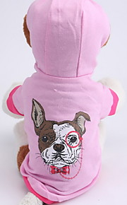 Dog Hoodies - XS / S / M / L - Spring/Fall - Pink - Waterproof / Fashion - Cotton