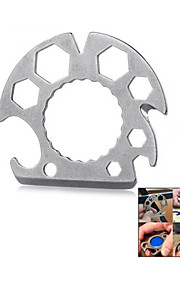 Outdoor Multi-functional Stainless Steel Bottle Opener Screwdriver Rope Cutter Tool - Silver