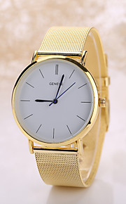 Men's White Case Stainless Steel Band Analog Quartz Wrist Watch