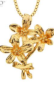 mode blomster vedhæng mænd smykker 18K forgyldt halskæder&vedhæng vintage smykker kvindelige gaver p30118