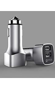 [Certificato Qualcomm] due porte QC 2.0 ricarica rapida 2.0 adattatore per auto caricabatteria per telefoni cellulari intelligenti