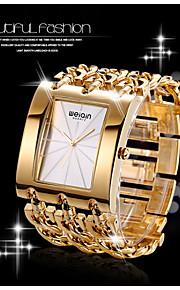 Dames Modieus horloge Kwarts Waterbestendig Legering Band Polshorloge / Vintage / armband / Bangle armband Zilver / Goud / Goud Rose