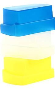 nova silicone flexível flash reflectido softbox difusor branco + amarelo + azul para Nikon SB800 / SB600 yn-460 yn-465 yn-467 yn-468