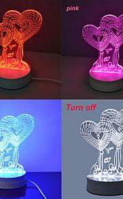 Jiawen 3,5 W 3d illusjon kreativ lys bordlampe (110-220V)