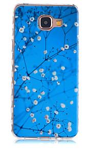 Plum Foliage Pattern Slip TPU Phone Case For Samsung Galaxy A3(2016)/A5(2016)