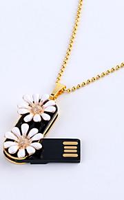 16GB naszyjnik perła biżuteria USB 2.0 Flash Memory Stick obrotowy dysk twardy u ZP-02