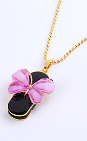 8GB Necklace Butterfly Jewelry USB 2.0 Rotatable Flash Memory Stick Drive U Disk ZP-01/ZP-04/ZP-09