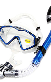 Snorkeling Packages Snorkels Diving Masks Swim Mask Goggle Snorkel Set Dry Top Diving / Snorkeling Swimming silicone Red Blue Purple Black