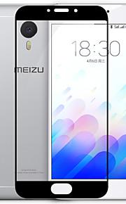 meizu m3 protector de pantalla de la nota, prima de vidrio templado 9h + dureza resistente a los arañazos del cuchillo ultra alta