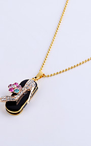 16GB Necklace High Heels Shoe Jewelry USB 2.0 Rotatable Flash Memory Stick Drive U Disk ZP-11