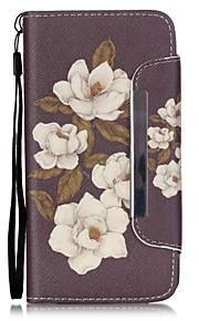bloemen patroon pu lederen portemonnee case voor de Samsung Galaxy J5 / G360 / G530 / 9082