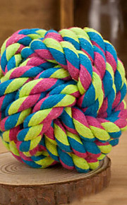 Dog Pet Toys Ball Woven Random Color Textile