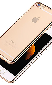 High Quality Simple Smooth Transparent Gilt Edge Phone Case for iPhone 6 Plus/6S Plus