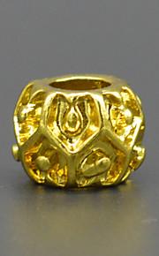 DIY beaded armbånd halskæde tilbehør vakuum plating 18 karat guld bump mode stort hul perle hac0039