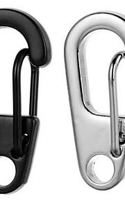 FURA D2 Mini Zinc Alloy Keychain Carabiner - Black / Silver