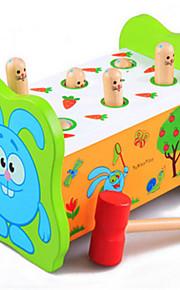 educacional hamster percussão fruitworm grandes brinquedos de madeira das crianças no início da infância