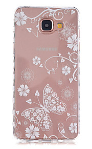 White Butterfly Pattern Slip TPU Phone Case For Samsung Galaxy A3(2016)/A5(2016)