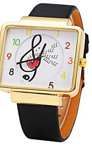 JUBAOLI Mulheres Infantil Relógio de Moda Quartzo Couro Banda Pendente Preta Branco Vermelho Marrom Dourado Branco Preto Marron Vermelho