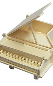 pequenas madeira de piano 3d puzzles DIY brinquedos