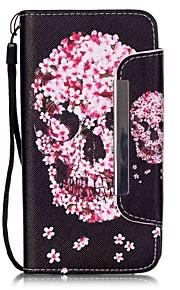 het skelet patroon pu lederen portemonnee case voor de Samsung Galaxy J5 / G360 / G530 / 9082
