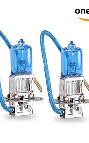 2 stk GMY 55w 1450 ± 15% lm 3800k halogen bil lys h3 12v blå