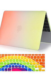 "2 i 1 regnbuens fargerike plast full body sak + tastatur deksel for MacBook Air 11 ""/ 13"""