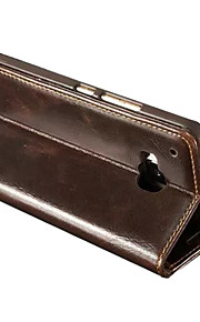 HTC의 M9 용 스탠드 새로운 패션 미친 말 PU 가죽 지갑 카드 슬롯 커버 플립 케이스를 caseme