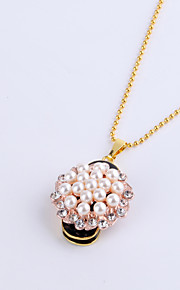 16GB Necklace Flower Pearl Shape Jewelry USB 2.0 Rotatable Flash Memory Stick Drive U Disk ZP-12
